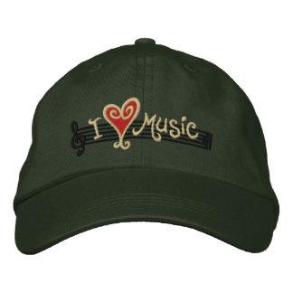 Boné Bordado Eu amo a música