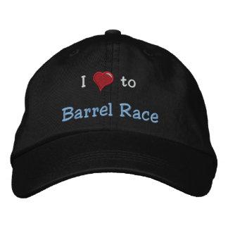 Boné Bordado Eu amo (coração) Barrel a raça