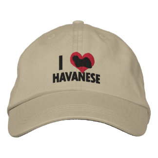 Boné Bordado Eu amo Havanese