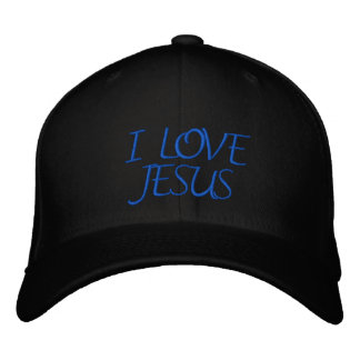 BONÉ BORDADO EU AMO JESUS