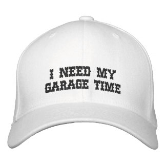Boné Bordado EU PRECISO MEU chapéu bordado TEMPO da GARAGEM