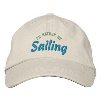 Boné Bordado Eu preferencialmente estaria navegando o chapéu do