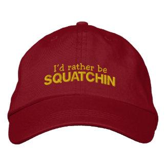 Boné Bordado Eu preferencialmente seria Squatchin