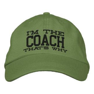 Boné Bordado Eu sou o treinador é por isso