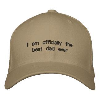 Boné Bordado Eu sou oficialmente o melhor pai nunca