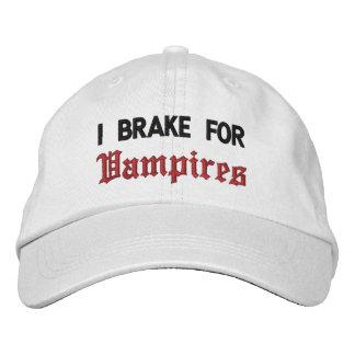 Boné Bordado Eu travo para vampiros