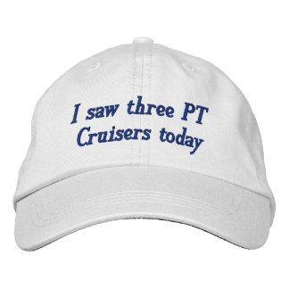 Boné Bordado Eu vi três cruzadores da pinta hoje