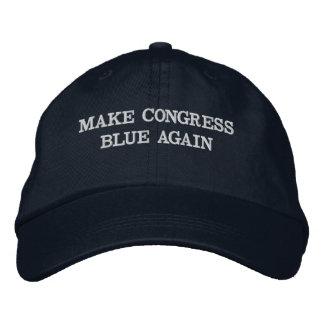 Boné Bordado Faça o azul do congresso outra vez