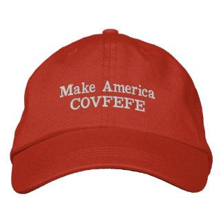 Boné Bordado Faça o chapéu de América COVFEFE