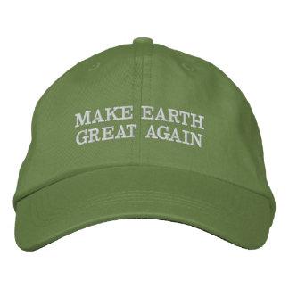 Boné Bordado Faça o excelente da terra (e o verde) outra vez!