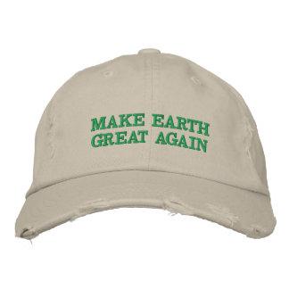 Boné Bordado Faça o excelente da terra (e o verde!) outra vez