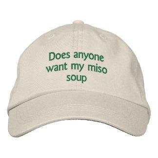 Boné Bordado faz qualquer um querem minha sopa de miso