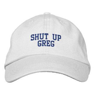 Boné Bordado Feche acima o chapéu de Greg