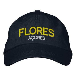 Boné Bordado Flores Açores bordou o chapéu