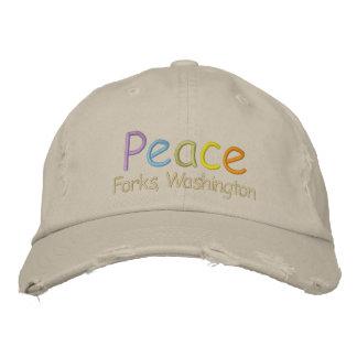 Boné Bordado Forquilhas da paz, chapéu de Washington