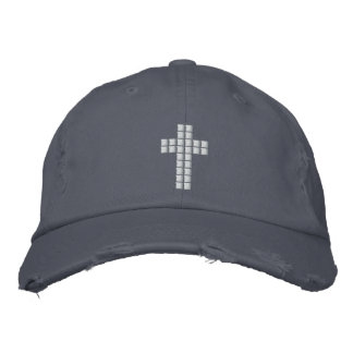 Boné Bordado Geek cristão - chapéu transversal do pixel