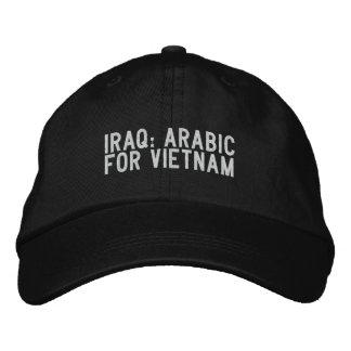 Boné Bordado Iraque: árabe para Vietnam