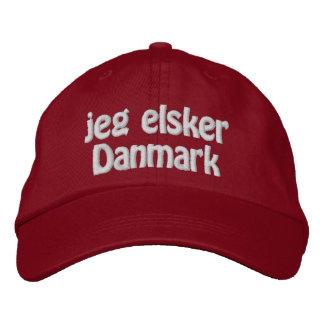 Boné Bordado Jeg Elsker Danmark