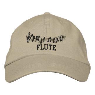 Boné bordado Khaki da flauta do divertimento