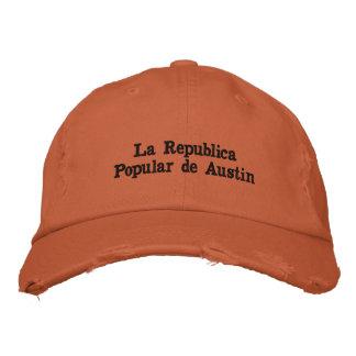 Boné Bordado La Republica Popular de Austin CHAPÉU