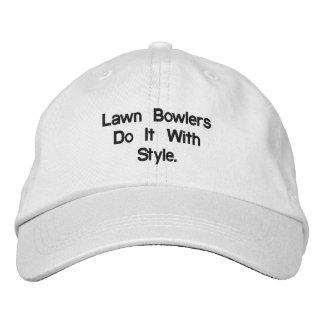 Boné Bordado Lawn_Bowls_White_Adjustable_Cap.