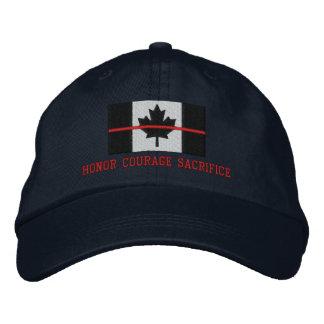 Boné Bordado Linha vermelha fina sacrifício canadense da