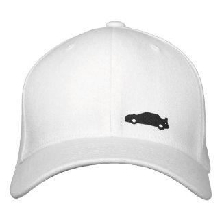 Boné Bordado Logotipo branco do preto do chapéu da silhueta do