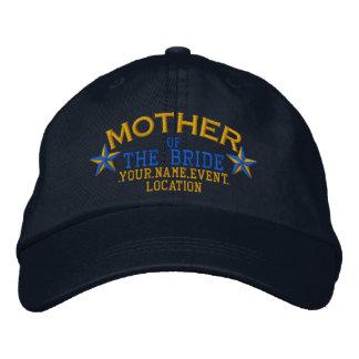 Boné Bordado Mãe personalizada das estrelas do azul do ouro da