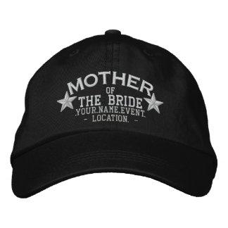 Boné Bordado Mãe personalizada das estrelas do bordado da noiva