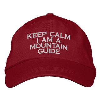Boné Bordado mantenha calmo mim são chapéu do guia da montanha