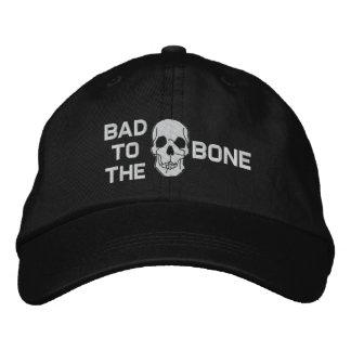 Boné Bordado Mau ao chapéu bordado crânio do osso