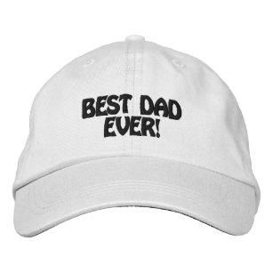 Boné Bordado Melhor pai personalizado do chapéu ajustável nunca 360a96f7116