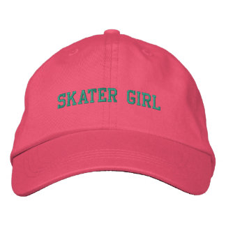 Boné bordado menina do patinador