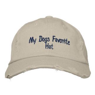 Boné Bordado Meu chapéu do favorito dos cães