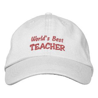 Boné Bordado Mundo melhor Professor-Todas ocasiões