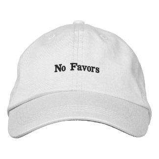Boné Bordado Nenhum chapéu dos favores
