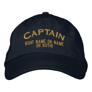 Boné Bordado Nome ou ambos do capitão Seu Barco Nome Seu!