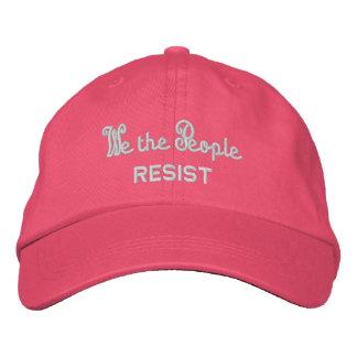 Boné Bordado Nós as pessoas resistimos o verão cor-de-rosa das
