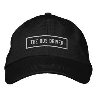 Boné Bordado O bordado do título do condutor de autocarro