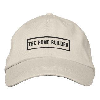 Boné Bordado O bordado do título do construtor de casas