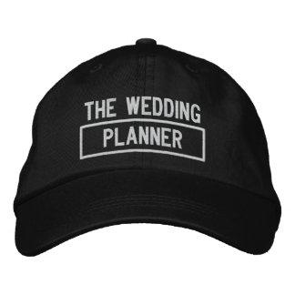 Boné Bordado O bordado do título do planejador do casamento