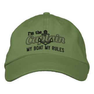 Boné Bordado O capitão diz meu barco minhas regras