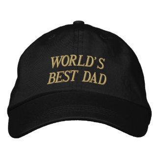 Boné Bordado O chapéu bordado o MELHOR PAI do MUNDO