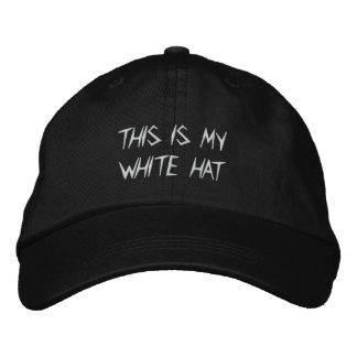 Boné Bordado O chapéu branco de Tony