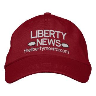 Boné Bordado O chapéu do monitor da liberdade