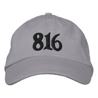 Boné Bordado O código de área do código de área 816 (ou use