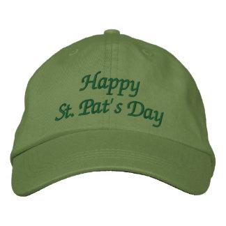 Boné Bordado O dia da pancadinha feliz do St. - chapéu do verde