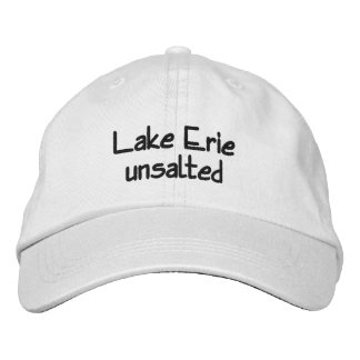 Boné Bordado O Lago Erie - unsalted