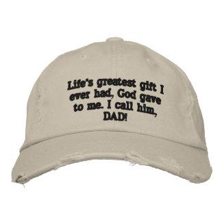 Boné Bordado O melhor chapéu do dia dos pais nunca!