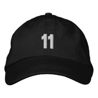 Boné Bordado O número 11 personalizou o chapéu ajustável